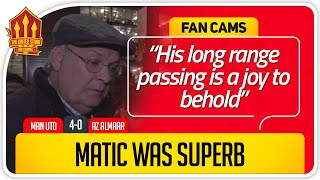 RICKY! MATIC SUPERB! Manchester United 4-0 AZ Alkmaar Fancam