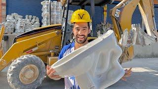 ASÍ SE HACEN LOS ESCUSADOS😱 Un día trabajando en una fábrica de porcelanas!