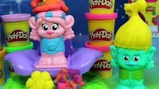 Trolle Mruk i Poppy u fryzjera Play-Doh - Salon fryzjerski Play Doh - bajka po polsku