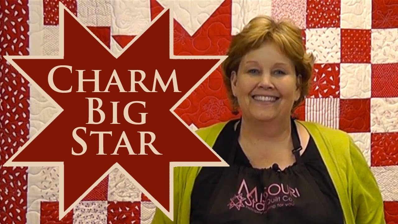 Charm Big Star Quilt- Quilting With Charm Packs! - YouTube : quilting videos on youtube - Adamdwight.com