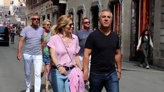 Rome street style, September lookbook. How to transition summer clothing into fall.
