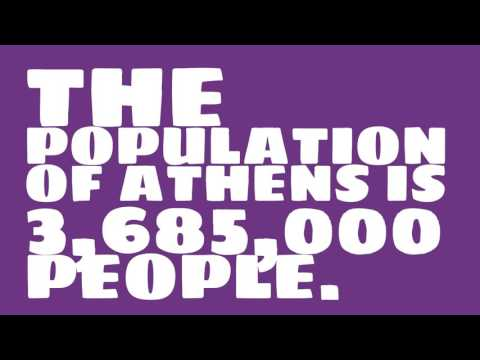 What is the population density of Athens?