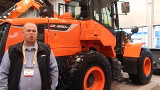 Video still for Doosan Marketing Manager Aaron Kleingartner Introduces New Wheel Loader at World of Concrete 2018