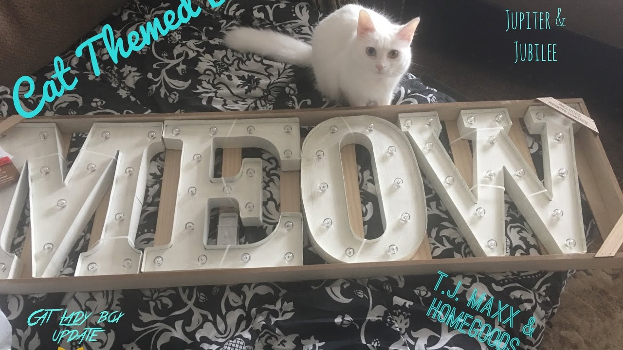 Affordable cat themed d cor haul t j maxx and home goods for Affordable home goods