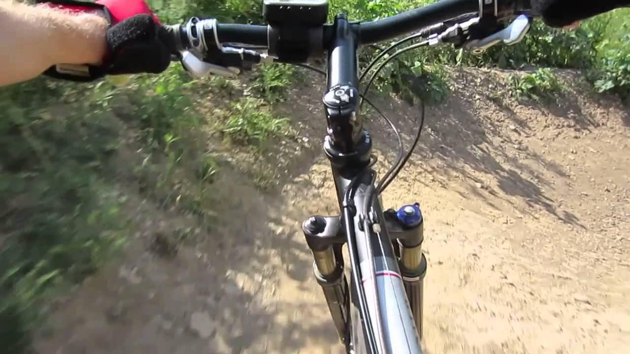 The Rock Bike Park Black Rush Trail 1st Ride Youtube
