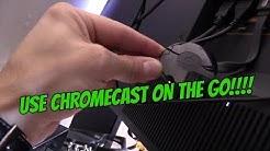 CHROMECAST SETUP & CONNECT TO MOBILE HOTSPOT (NO WIFI ROUTER)