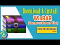 Gambar cover How To Download WinRAR 2017 For Windows 10 - Compress and Extract Files - How To Download