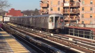 NYC Subway: BMT D Train Action from Fort Hamilton Pkwy to Coney Island