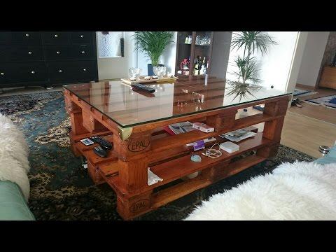 Tisch selber bauen doovi for Couchtisch europalette