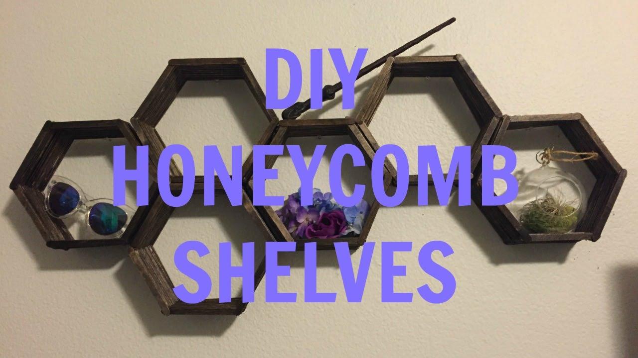 honeycomb brass bookshelf metal and pin shelf frame mesh with wall beehive