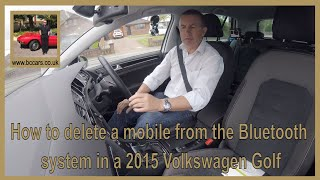 How to delete a mobile from the bluetooth system in a 2015 Volkswagen Golf 2 0 TDI BlueMotion Tech G