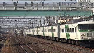 【4K定点撮影】常磐線(南柏駅)