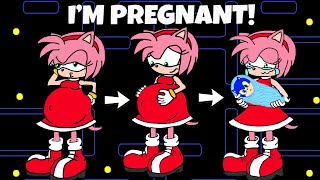 Oh no! Amy Pregnant? Sonic became Dad | Pacman Stop Motion Game