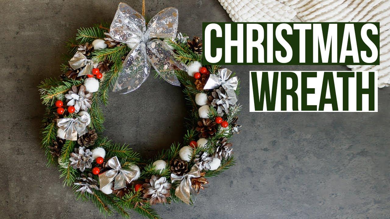 Christmas Wreath Tutorial How To Make Diy Wreath Idea Youtube