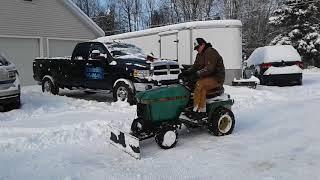 JD 260 Homemade Garden tractor plow.
