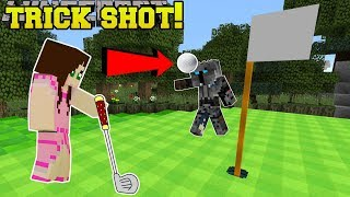 Minecraft: GOLF TRICK SHOT!! - MASTER'S GOLF - Custom Map [2]