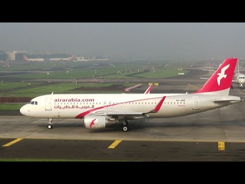 Rare late departure of Air Arabia at Mumbai Airport