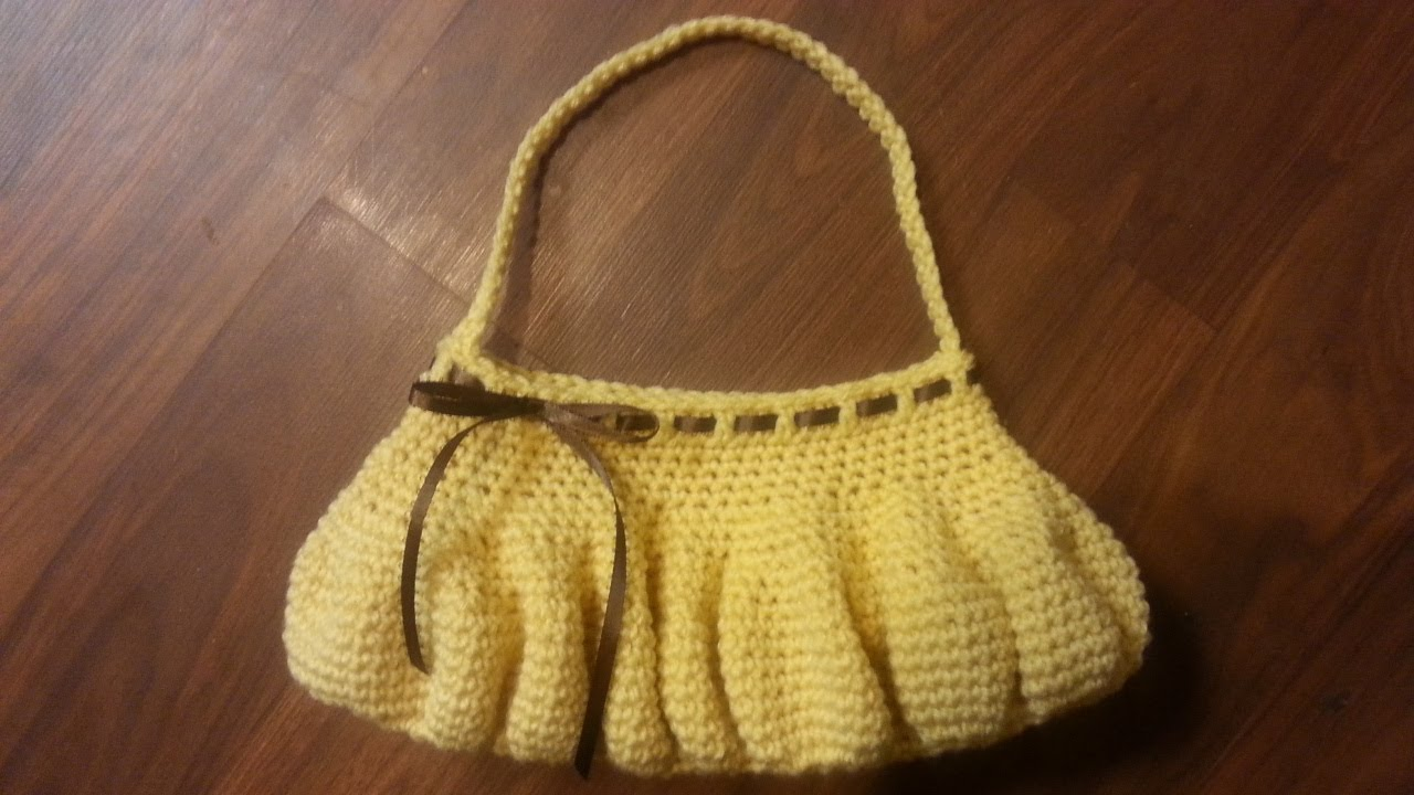 CROCHET How To #Crochet Easy Beginner Purse tutorial #19 ...
