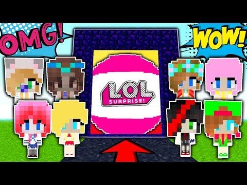 WORLD OF LOL'S DOLLS IN MINECRAFT! BALL DOLLS LOL MINECRAFT! 100% TROLLING GRENNY TRAP FOR NOOB