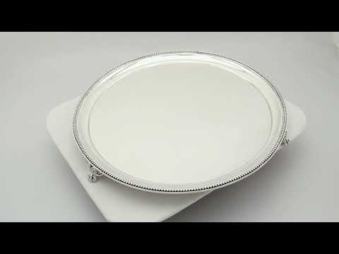 Sterling Silver Salver by Walter & John Barnard- Antique Victorian (1882) - AC Silver (A9574)