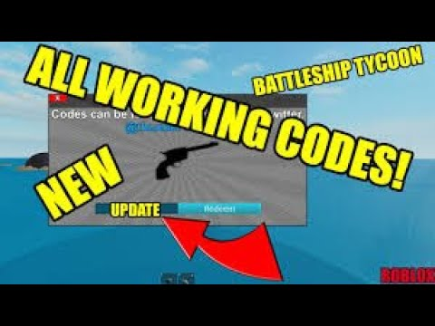 Roblox Battleship Tycoon Codes May 2020