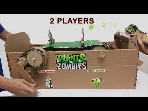How to make (2 players) Plant vs Zombies cardboard version