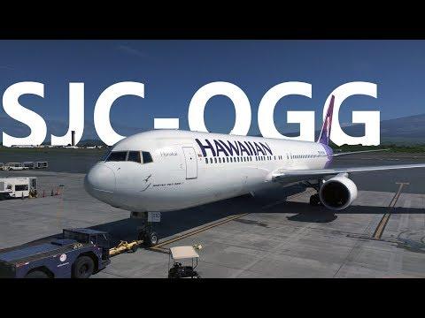 San Jose to Maui (Kahului), HI - Hawaiian 45 - Boeing 767-300 ER