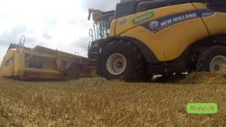 Agropol Sokołowo - Testy kombajnu New Holland CR9.80 (Prototyp 2015) - Harvest in Poland *GO PRO*