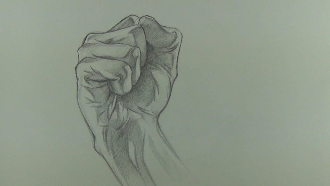 Drawing a Fist in Graphite (Hand Drawing)