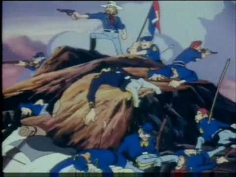 history cartoon custers last stand youtube