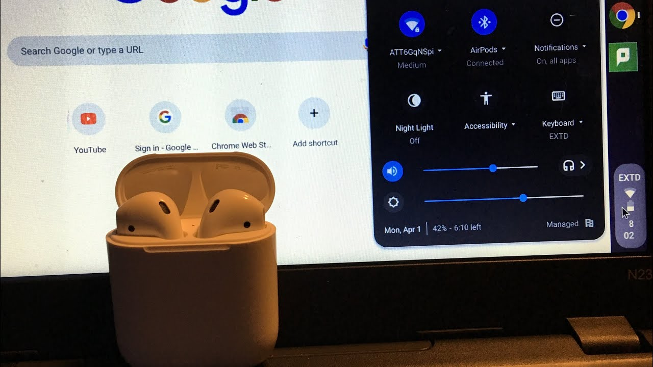 How To Connect Your Air Pods To Your Chromebook Youtube