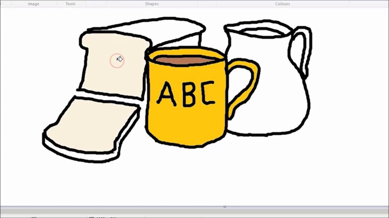 Relogio E Cafe Da Manha Desenhar E Colorir How To Draw Clock And