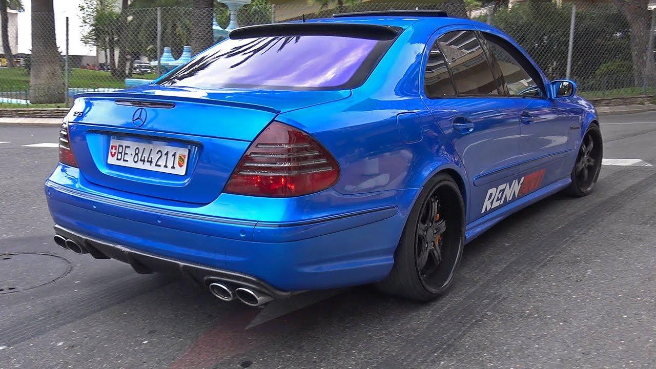Renntech mercedes benz e55 amg doing crazy burnout youtube for Mercedes benz e55 amg