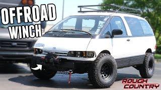 Building a Custom Offroad Bumper & Installing a Winch - Lifted Mini-Van