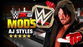 WWE 2K15 PC Modifiye : Phenominal AJ Styles (NJPW Kurşun Kulübü)