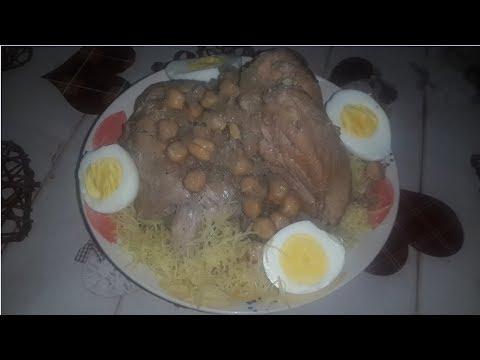 Mes Recettes - Douida à la sauce blanche et poulet - دويدة بالصلصة البيضاء و الدجاج