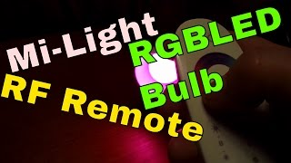 Mi-Light - RF remote controlled RGB Warm White LED Bulbs Review