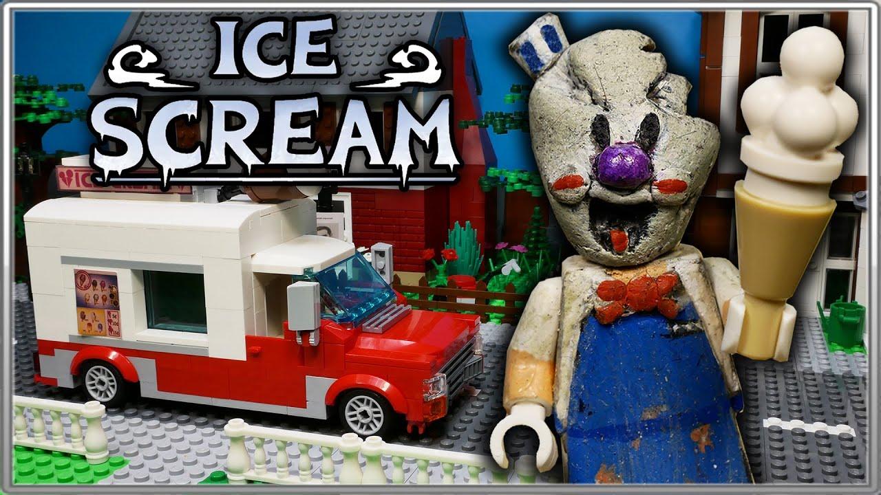 LEGO Мультфильм Мороженщик / Все серии 1-5 / Horror game Ice Scream
