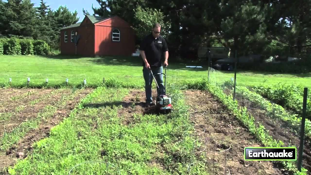 Removing Weeds With A Mc43 Mini Cultivator Youtube