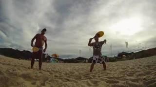 Trinca de Frescobol na Praia Mole / SC.