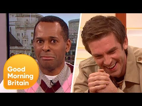 Dan Stevens Gets Caught Up in a Very Awkward Moment! | Good Morning Britain