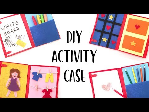 DIY Travel Activity Case From a DVD Box