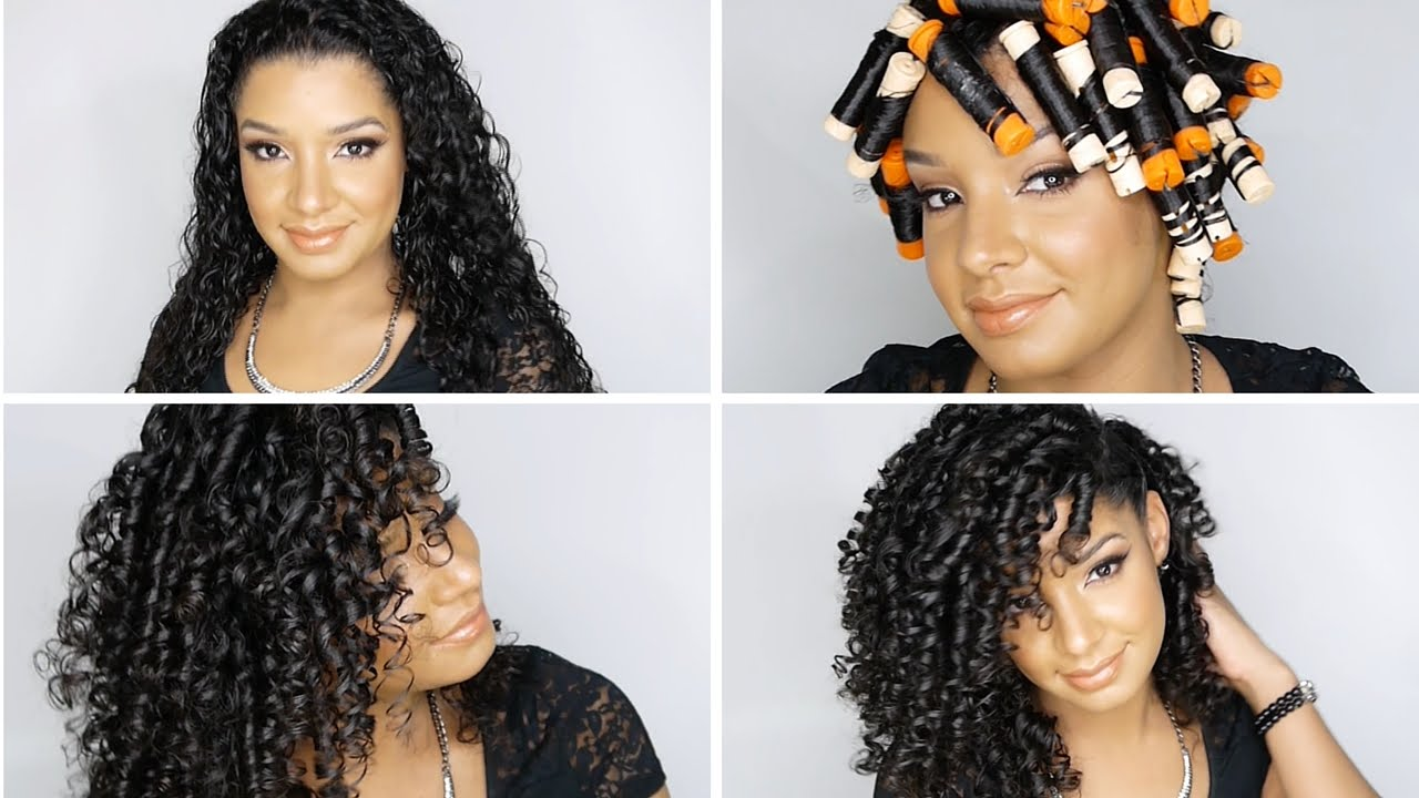 How to perfect perm rod set on natural curly hair tutorial youtube urmus Images