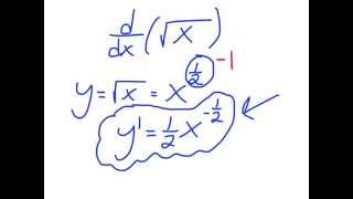 calculus the derivative of square root of x