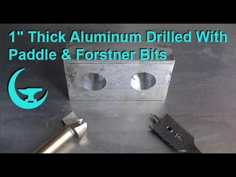 "1"" Thick Aluminum Drilled With Paddle & Forstner Bits"