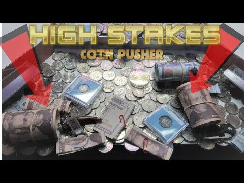 I WON $120 on a 'HIGH RISK' Coin Pusher!!