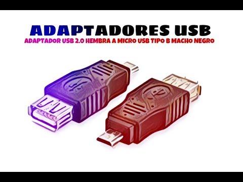 Video de Adaptador USB 2.0 hembra a micro USB tipo B macho  Negro