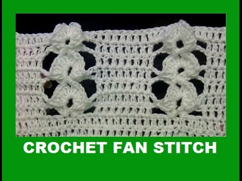 Crochet Stitches On Youtube : handfan crochet stitch-Relief stitch - YouTube