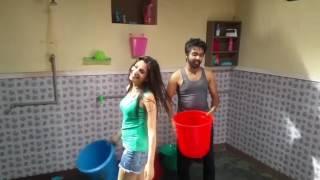 kriti kharbanda and g.v prakash in movie shooting bruce lee