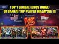 Top 1 Global (EVOS Oura) di Bantai Top Player MALAYSIA !!! INDONESIA VS MALAYSIA Arena Contest